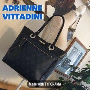 Adrienne Vittadini Navy Signature tote bag